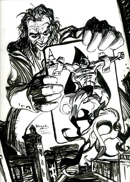 Neal Adams swipe by me, with Heath Ledgers head